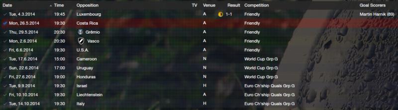 Austria Fixtures 2014