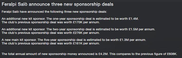 New sponsors